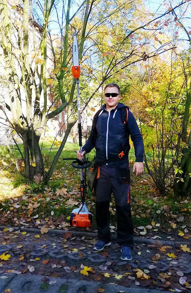 Sprzątanie zewnątrz terenu